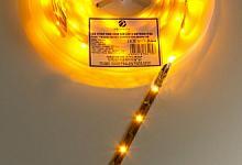 Wodnoodporna Taśma LED, 150 diod, kolor żółty