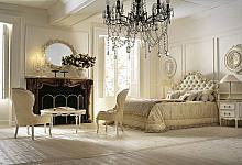 kremowa sypialnia z cienkimi listwami ściennymi